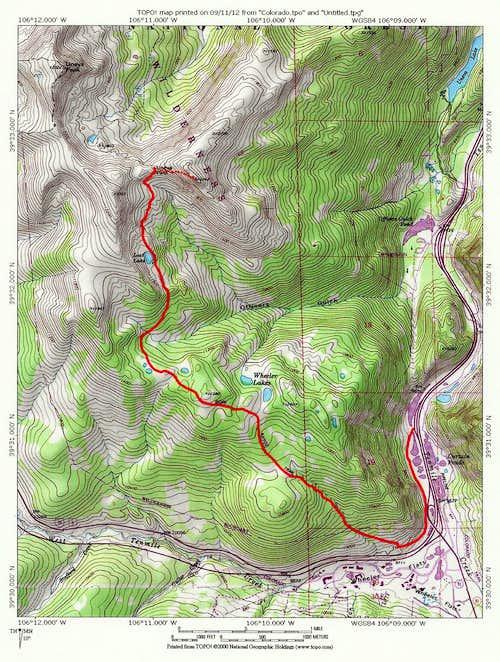 Gore Range Trail, south approach