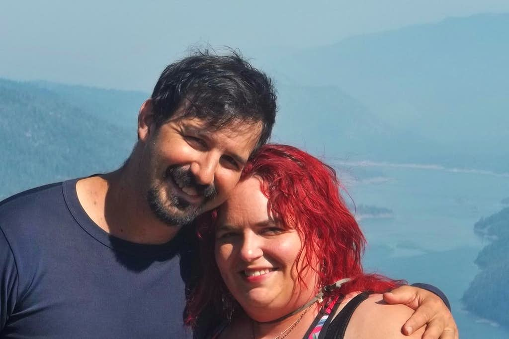 Me and my husband and guide