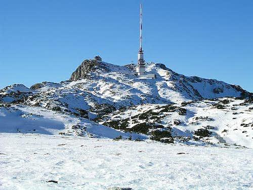 The summit of Dobratsch. Left...