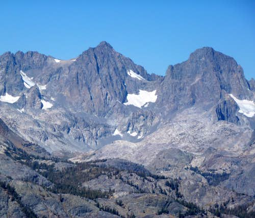 Mt. Ritter and Banner Peak from San Joaquin Ridge