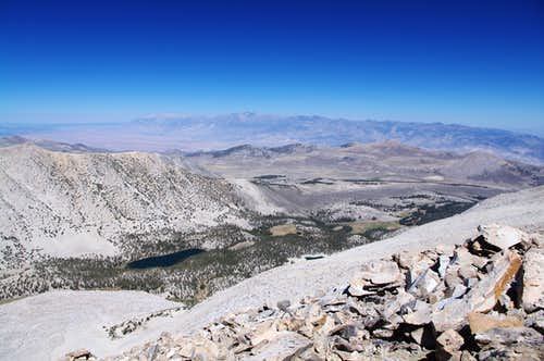 looking northeast from the ridgeline's high point