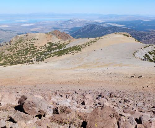 View northeast from the summit of San Joaquin Mountain