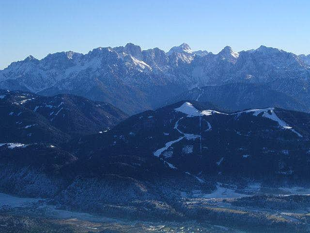 Julian Alps from the summit...