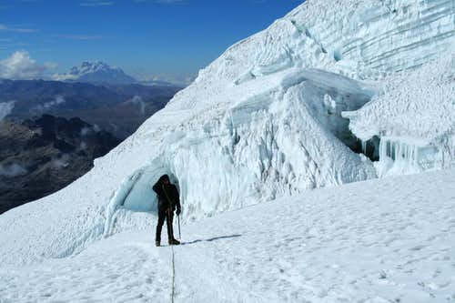 Close to the icefall