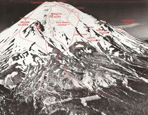 Mount Saint Helens - Pre 1980 view from northeast