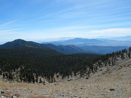 With Griffith Peak on the...
