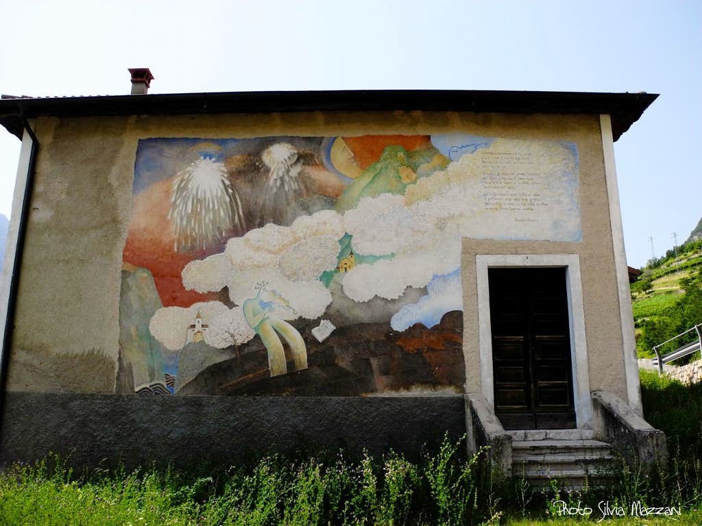 Valmorbia, the paint dedicated to the poet Eugenio Montale