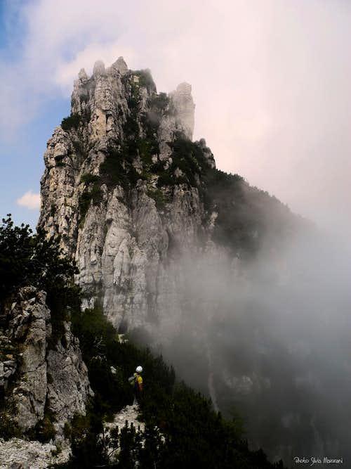 The descent along the Arroccamento Path (Baffelan)