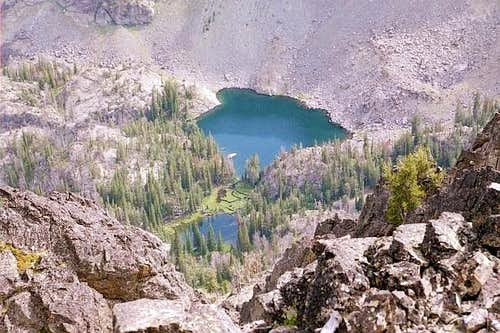 Hanson Lake from the summit...