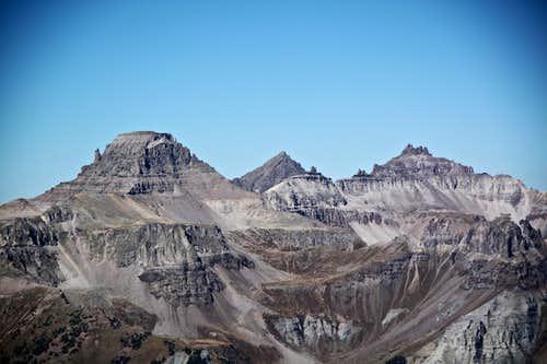 Yankee Boy Basin Peaks