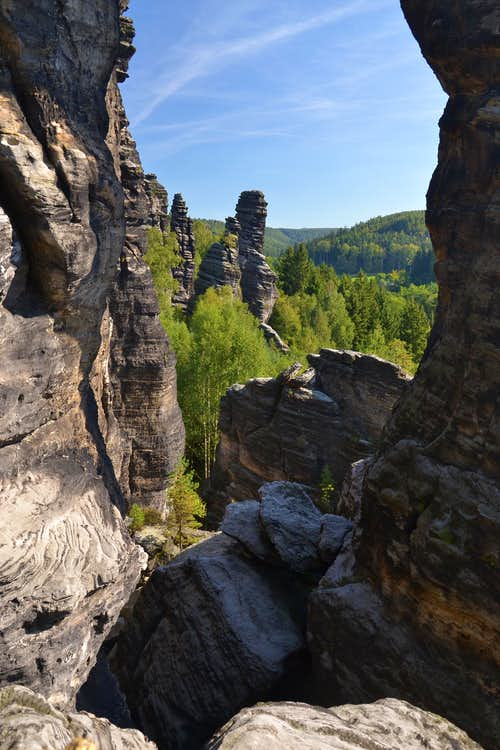 In the Bielatal valley