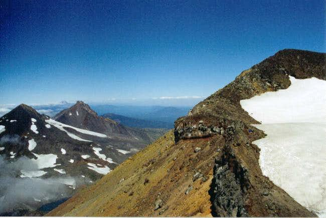 Looking north from South Sister
