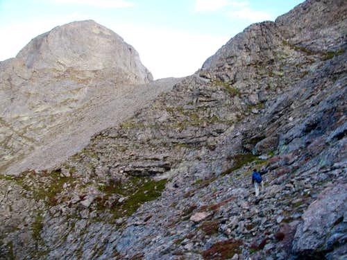 Ascending Traverse Around Obstruction Peak