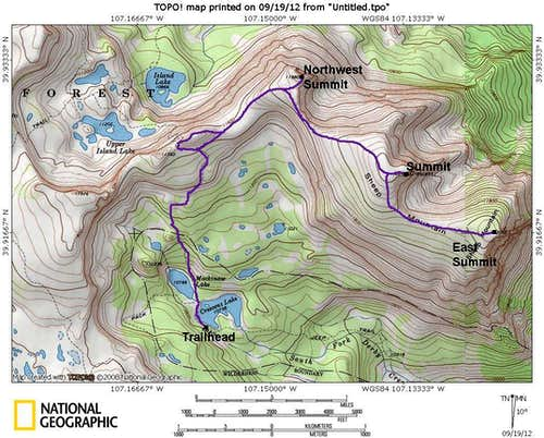 Sheep Mountain Map
