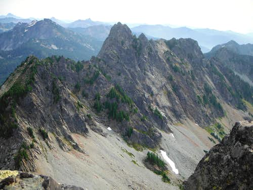Chair Peak from the summit