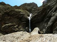 waterfall and icefield