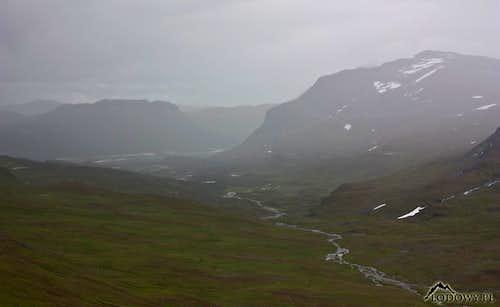 Rain curtain over Neasket valley