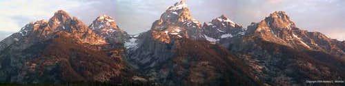 This panoramic of the Teton...