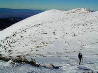 Gaining the summit ridge,...