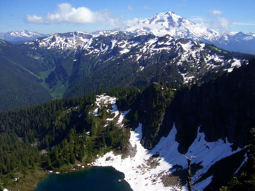 Glacier Peak and Emerald Lake from Meadow Mountain