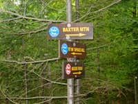 Baxter Trail Sign