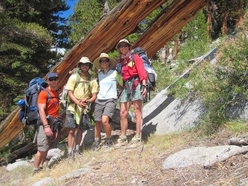 Seid Family 4-Nighter: North Lake Trailhead, Piute Pass, Snow Tongue Pass, Darwin Bench, Lamarck Col