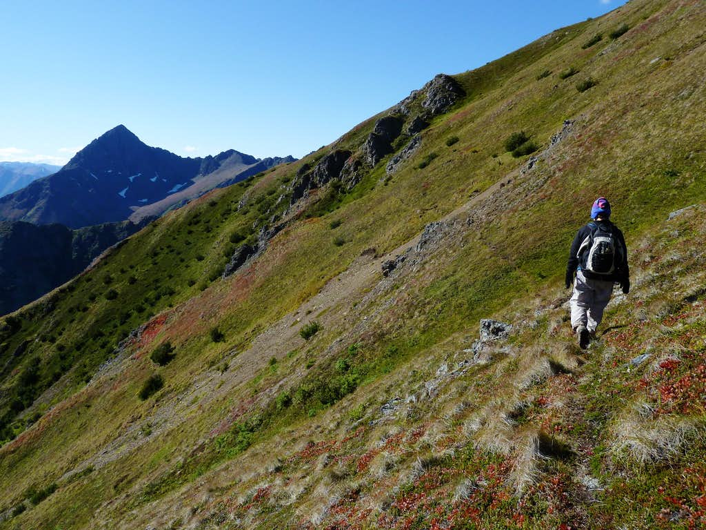 Traversing Toward South Gully