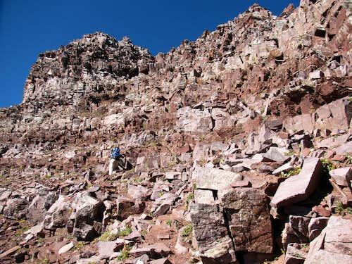 Cliff Bands Below the Ridge Crest