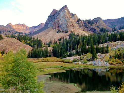 Sundial Peak from Lake Blanche on the way up to Mount Dromedary