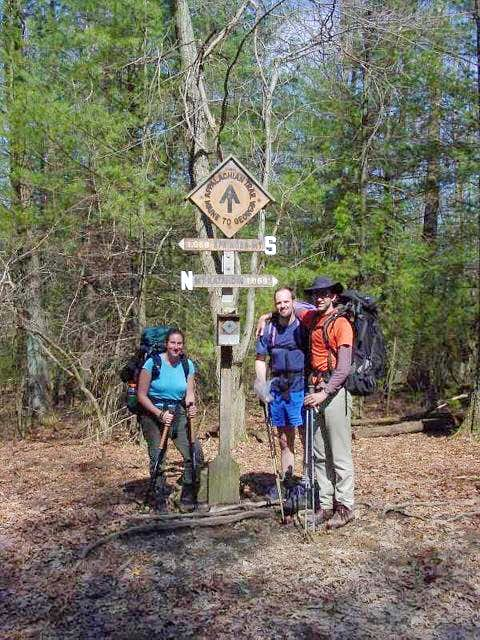 AT Midpoint Sign at Pole Steeple