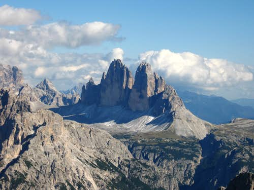 Tre Cime seen from Picco di Vallandro