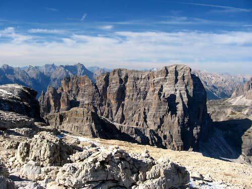 Croda dei Toni seen from Monte Popera