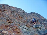 Matt Scrambling the East Face
