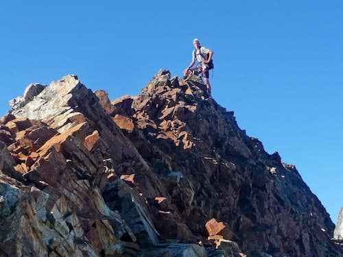Matt hiking along the Sahale Boston Ridge