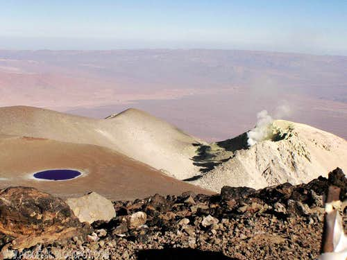 San Pedro volcano summit view...(to its active crater!)
