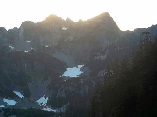 Mount Roosevelt during the sunset