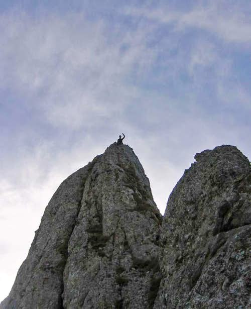 My partner Andrei on the Cross needle