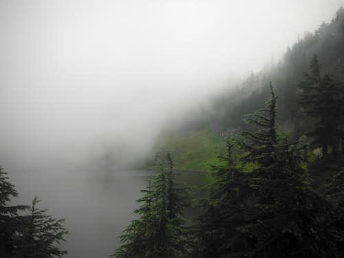 Lake Lillian under fog