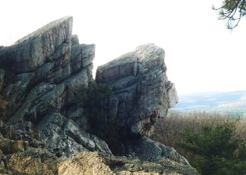 Some of the large quartzite...