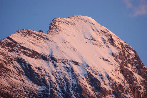 Lauper route (Eiger) at sunset