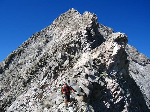Scrambling on Capitol Peak
