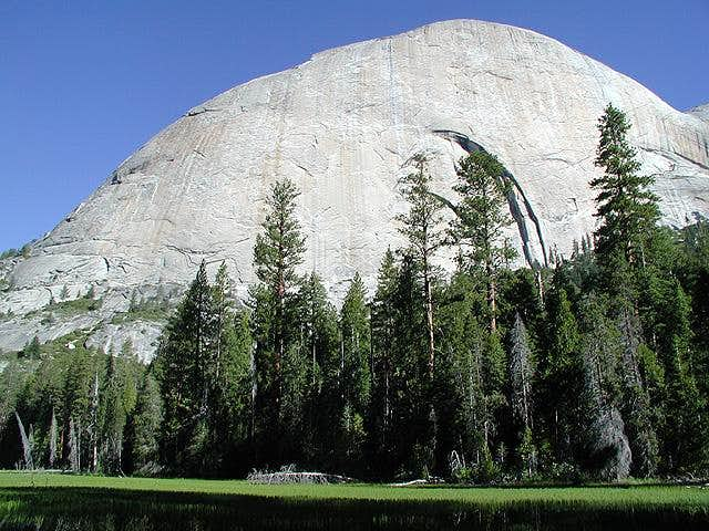 Half Dome's backside with...