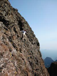 Down Climbing NW Warrior Peak
