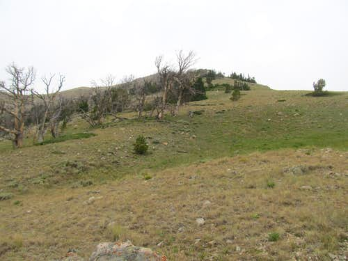 lower ramparts of Middle Ridge