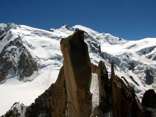 Le Mont Blanc from the Arete...