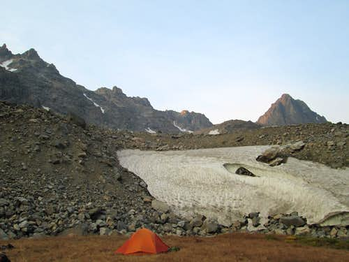 Home Sweet Home-At the base camp of Castle Mountain, the 3rd highest peak in Montana