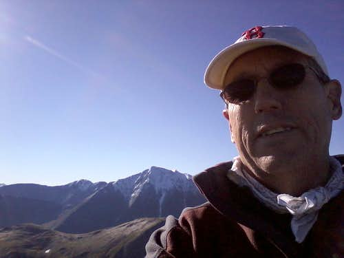 Mt Sniktau summit self portrait