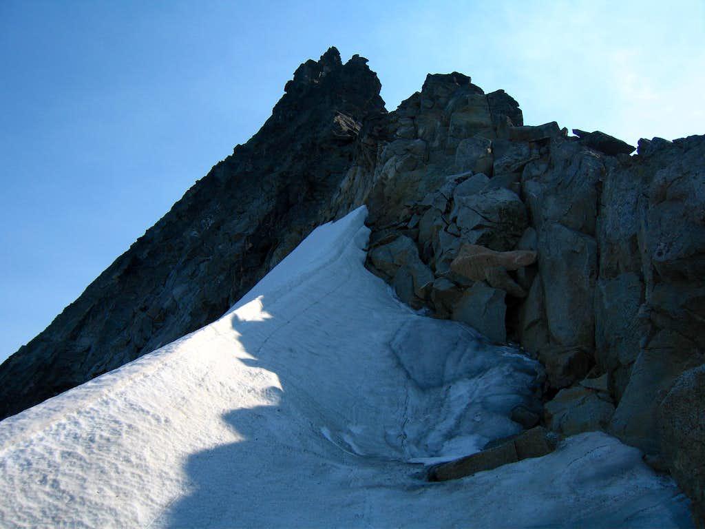 Starting the west ridge