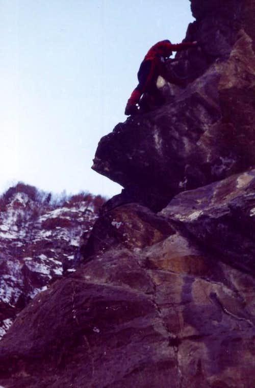 Free Climbing in Winter Dard 1977