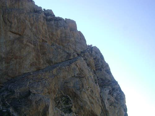 Wall Street-The first pitch of the upper Exum ridge of the Grand Teton